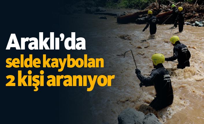 Araklı'da selde kaybolan iki kişinin arama çalışmaları devam ediyor!