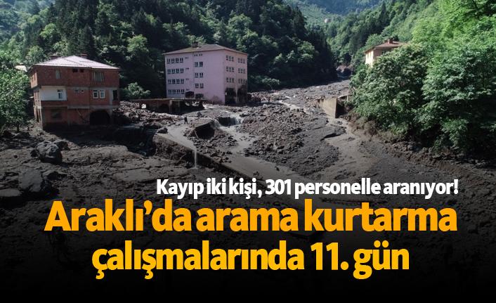 Araklı'da arama kurtarma çalışmalarında 11. gün