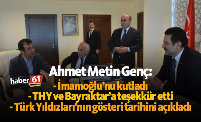 Ahmet Metin Genç, İmamoğlu'nu kutladı