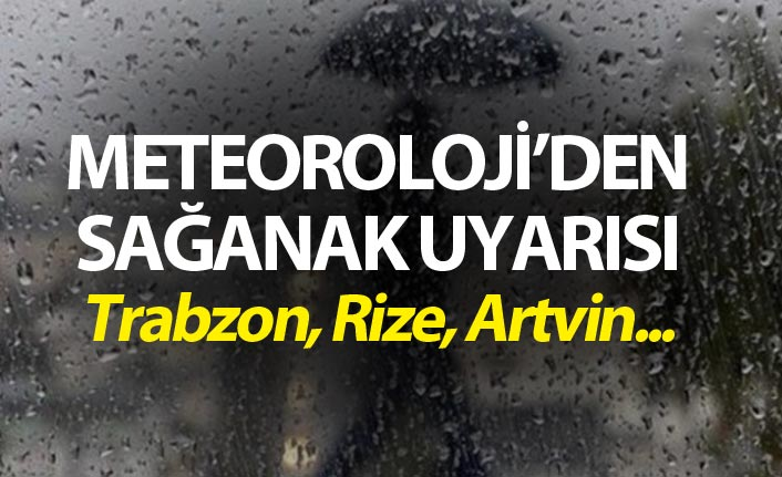 Meteoroloji uyardı - Trabzon, Rize, Artvin...