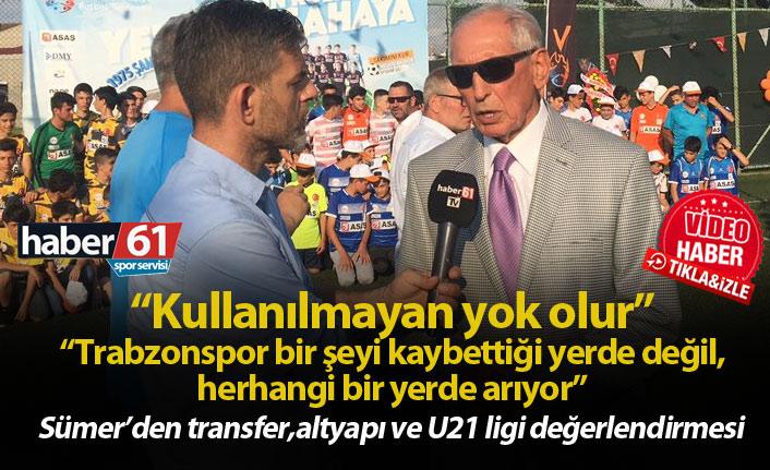 Özkan Sümer: Trabzonspor altyapıda başlangıç noktasıdır