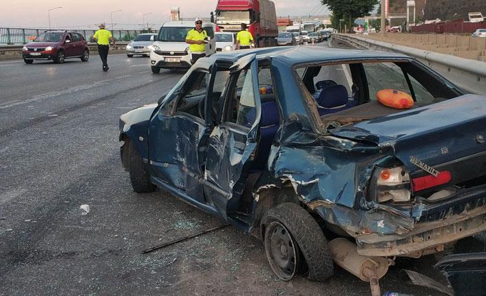 Samsun'da düğün konvoyunda kaza: 2 yaralı