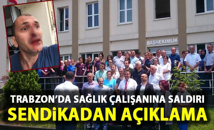 Trabzon'da sağlık çalışanı darp edildi! Meslektaşları açıklama yaptı!