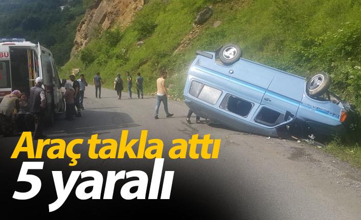 Giresun'da kaza: 5 kişi yaralandı
