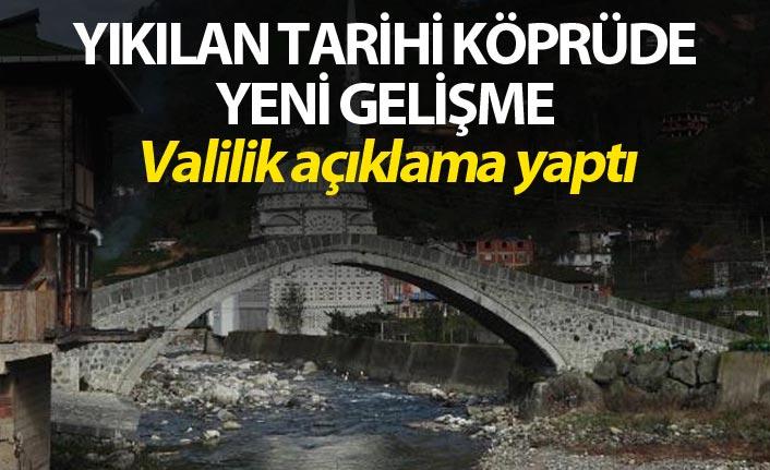 Yıkılan tarihi köprü yeniden yapılacak
