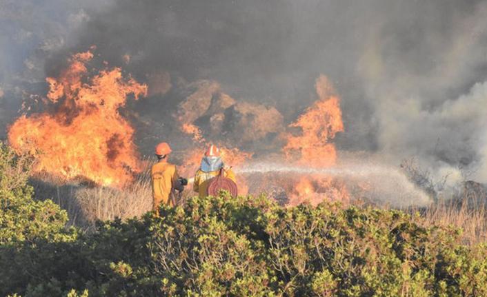 Muğla'da yangın söndürme çalışmaları sürüyor