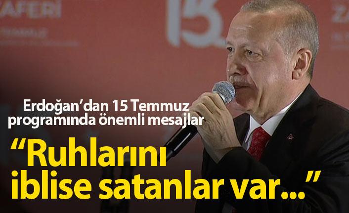 Erdoğan'dan 15 Temmuz'un 3. yıldönümünde önemli mesajlar
