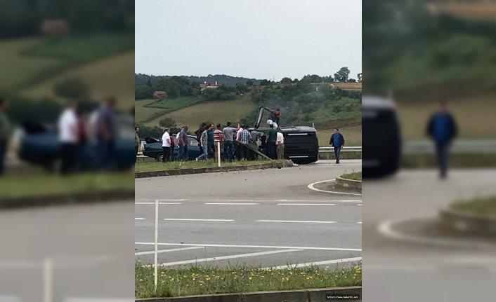 Sinop'ta trafik kazası, yaralılar var!