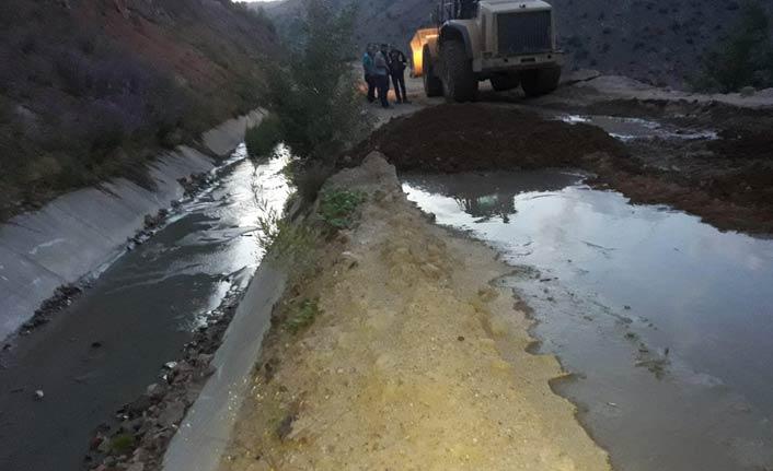 Maden atık suyunun dereye karışması olayında yeni gelişme