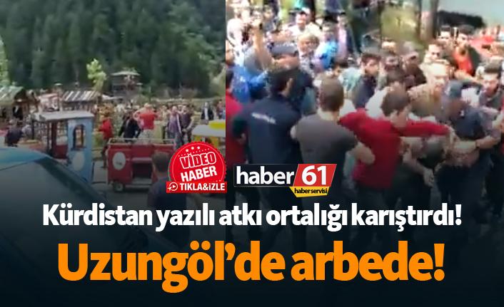 Uzungöl'de arbede! Kürdistan yazılı atkı ortalığı karıştırdı... | Trabzon Haberleri