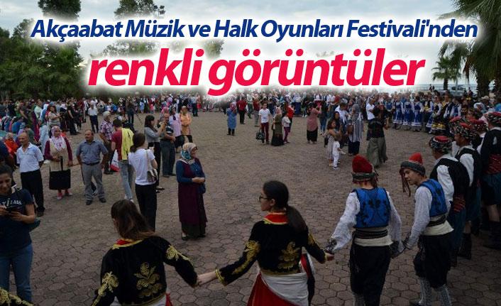 Akçaabat Müzik ve Halk Oyunları Festivali'nden renkli görüntüler