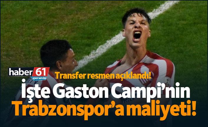 Transfer resmen açıklandı! İşte Gaston Campi'nin Trabzonspor'a maliyeti!