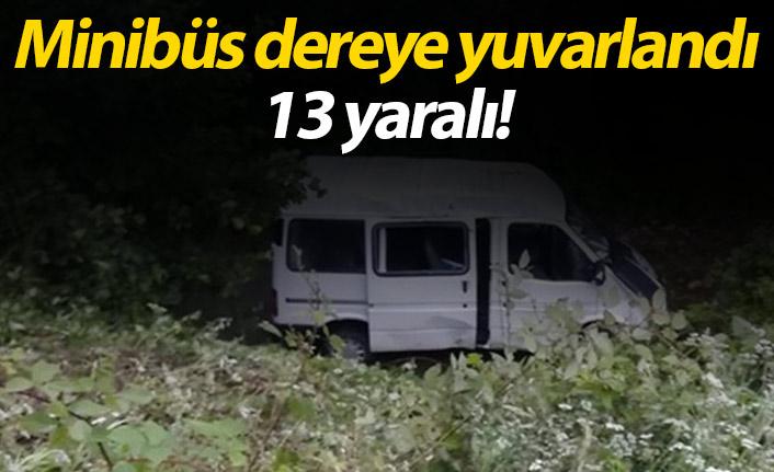 Minibüs dereye yuvarlandı 13 yaralı | Giresun Haberleri