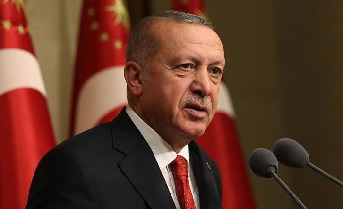 """Cumhurbaşkanı Erdoğan: """"Hiçbir yaptırım tehdidi Türkiye'yi haklı davasından vazgeçiremez"""""""