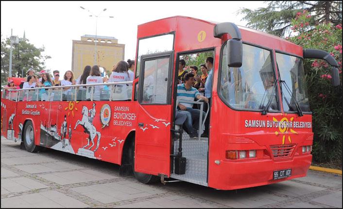 Samsun'un o ilçesinde ücretsiz otobüs turu