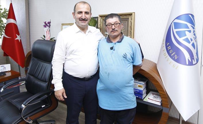 Trabzon'da temizlik işçisinden örnek davranış