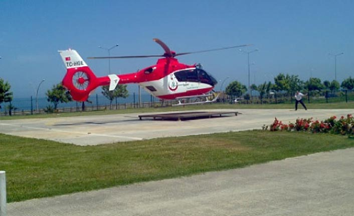 Yüksek gerilim hattında yaralandı - Trabzon'dan helikopterle alındı