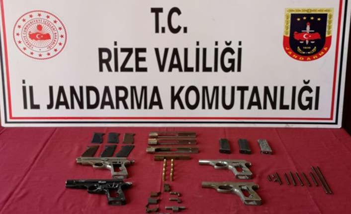 Rize'de jandarmadan silah operasyonu