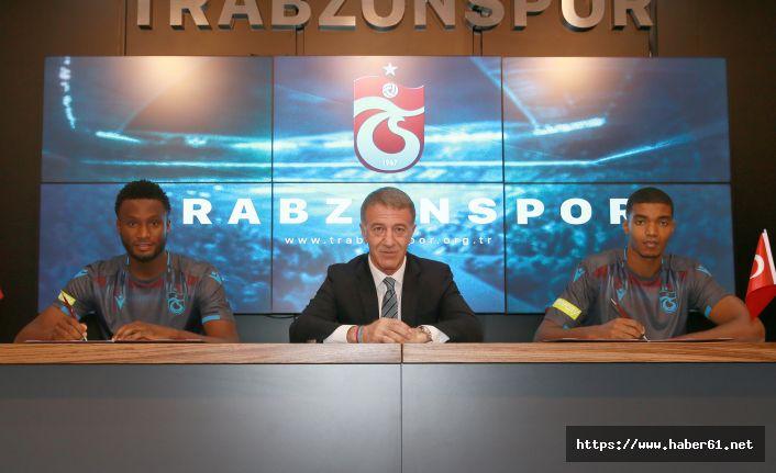Trabzonspor yeni transferlerine imza töreni düzenledi