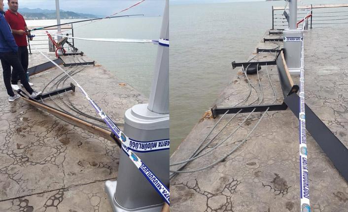 Tarihi iskeleyi fırtına vurdu | Giresun Haberleri