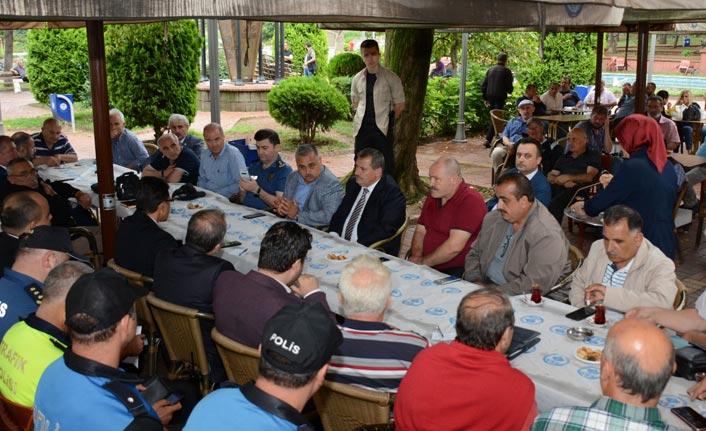 Trabzon Emniyeti muhtarlarla buluştu