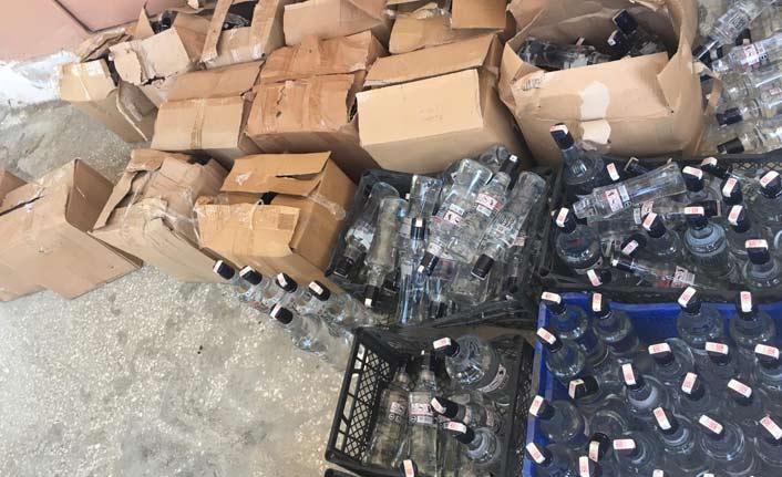 361 şişe sahte içki yakalandı