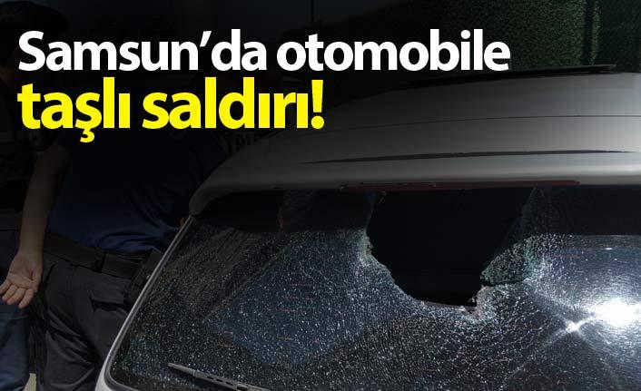 Otomobile taşlı saldırı!