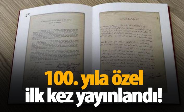 100. yıla özel ilk kez yayınlandı