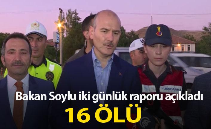 Bakan Soylu kaza raporunu açıkladı