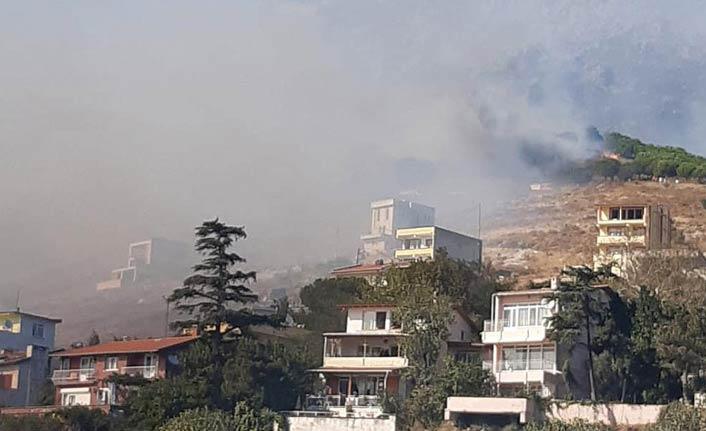 Marmara Adası'nda alevler yeniden yükseldi