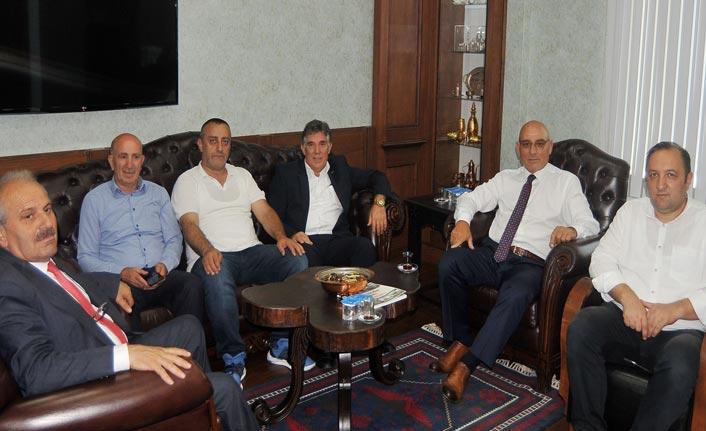 Trabzon esnafı bayramlaştı
