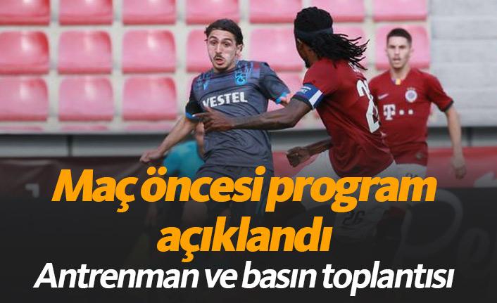Trabzonspor'un Prag programı açıklandı
