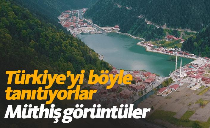 Türkiye'yi böyle tanıtıyorlar! Müthiş kareler