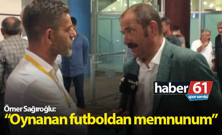 Sağıroğlu: Futboldan çok memnunum
