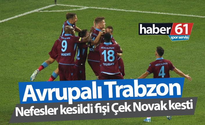 Trabzonspor Sparta Prag'ı geçti, Avrupa'da turladı