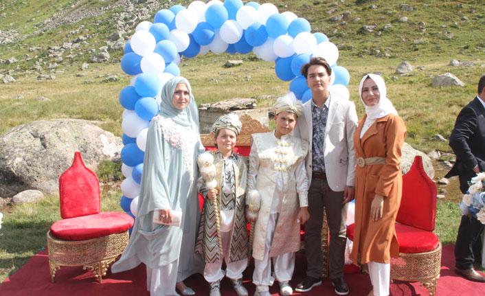 Rize'de 2 bin 400 metrede sünnet düğünü