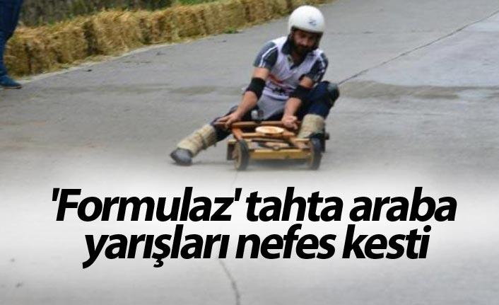 'Formulaz' tahta araba yarışları nefes kesti