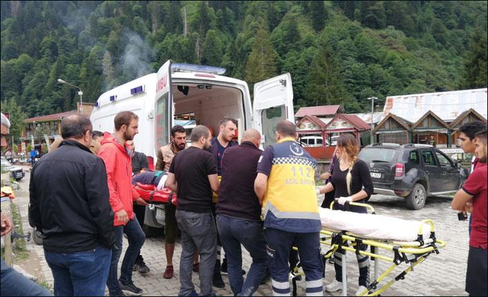 Ayder'de tartışma konusu olan salıncaklarda kaza!