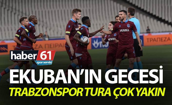 Trabzonspor Tura çok yakın - Ekuban'ın gecesi