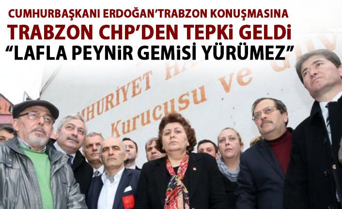 Trabzon CHP'den Cumhurbaşkanı Erdoğan'ın açıklamalarına tepki!