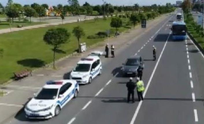 Trabzon trafiğinde Radar ve Alkol uygulaması - 135 araca 53Bin TL ceza…