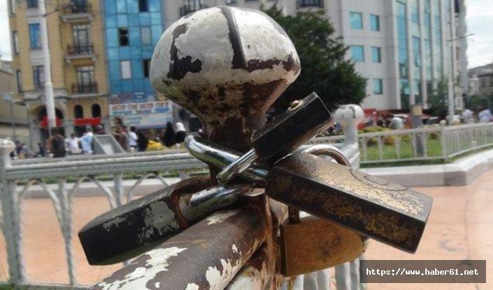 Taksim Meydanı'nda ilginç görüntü!