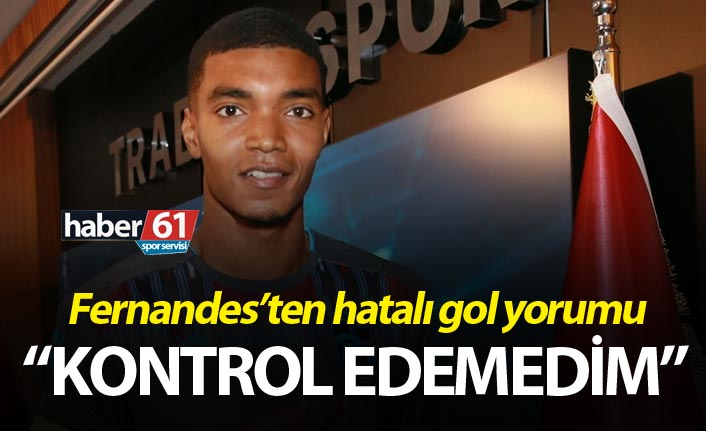 """Fernandes'ten hatalı gol açıklaması: """"Kontrol edemedim"""""""