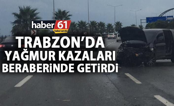 Trabzon'da yağmur kazaları beraberinde getirdi!