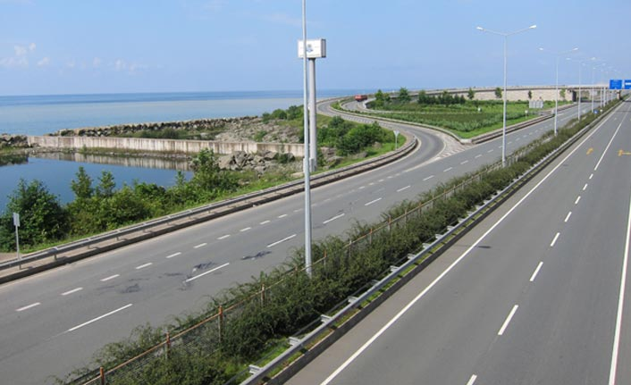 Trabzon Rize yolunda çalışma
