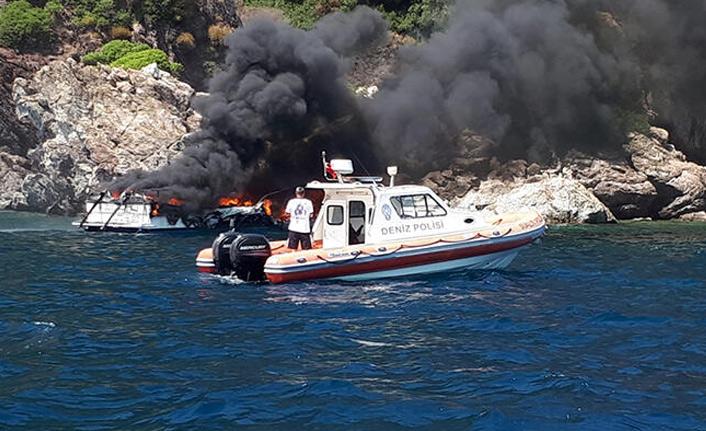Teknede korkutan yangın!
