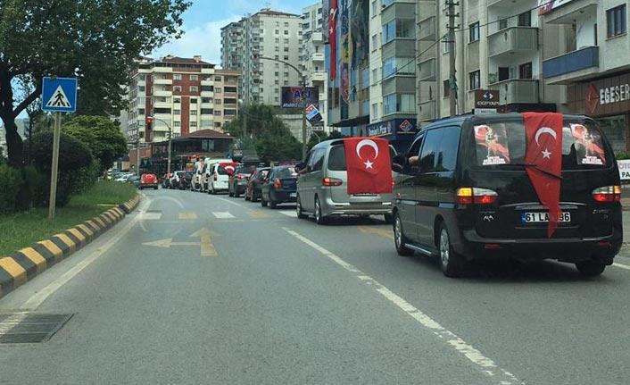 Trabzon'da şehit Akın Çelebi için akın ettiler