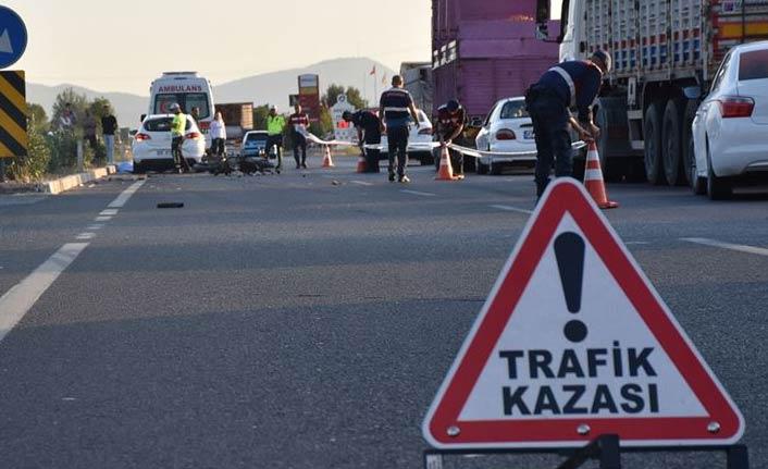 Motosiklet kazası: 1 ölü, 2 yaralı