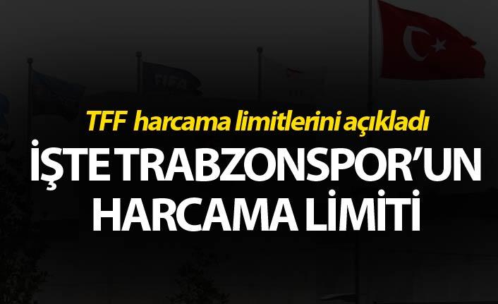 TFF, harcama limitlerini açıkladı! İşte Trabzonspor'un limiti