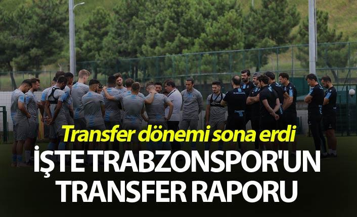 Transfer dönemi sona erdi - İşte Trabzonspor'un transfer raporu